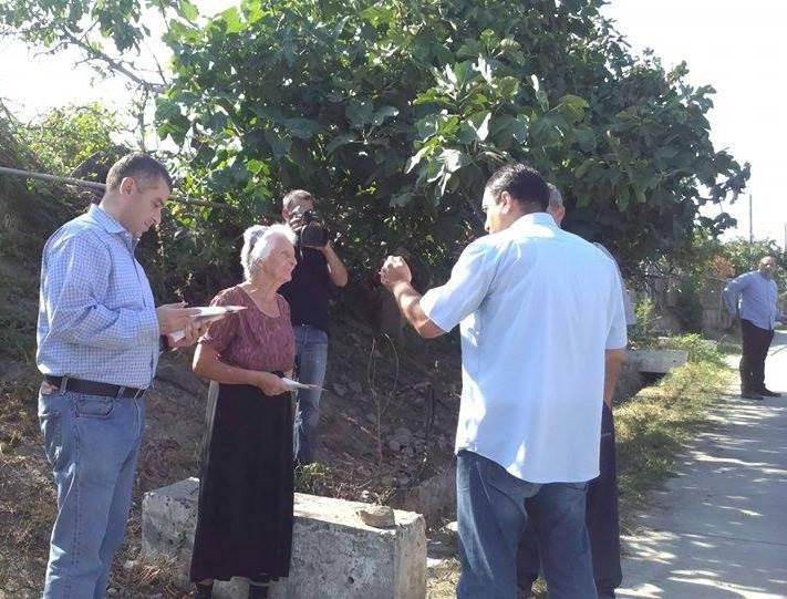ირმა ნადირაშვილმა და ლევან ბეჟაშვილმა შეხვედრები სოფელ გურჯაანში  გამართეს