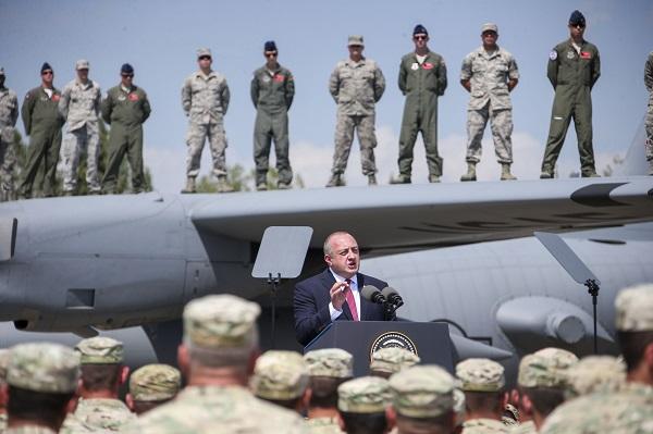 მეამაყება, რომ ქართველ და ამერიკელ სამხედროებს ქართულ მიწაზე მხარდამხარ ვხედავ - გიორგი მარგველაშვილი