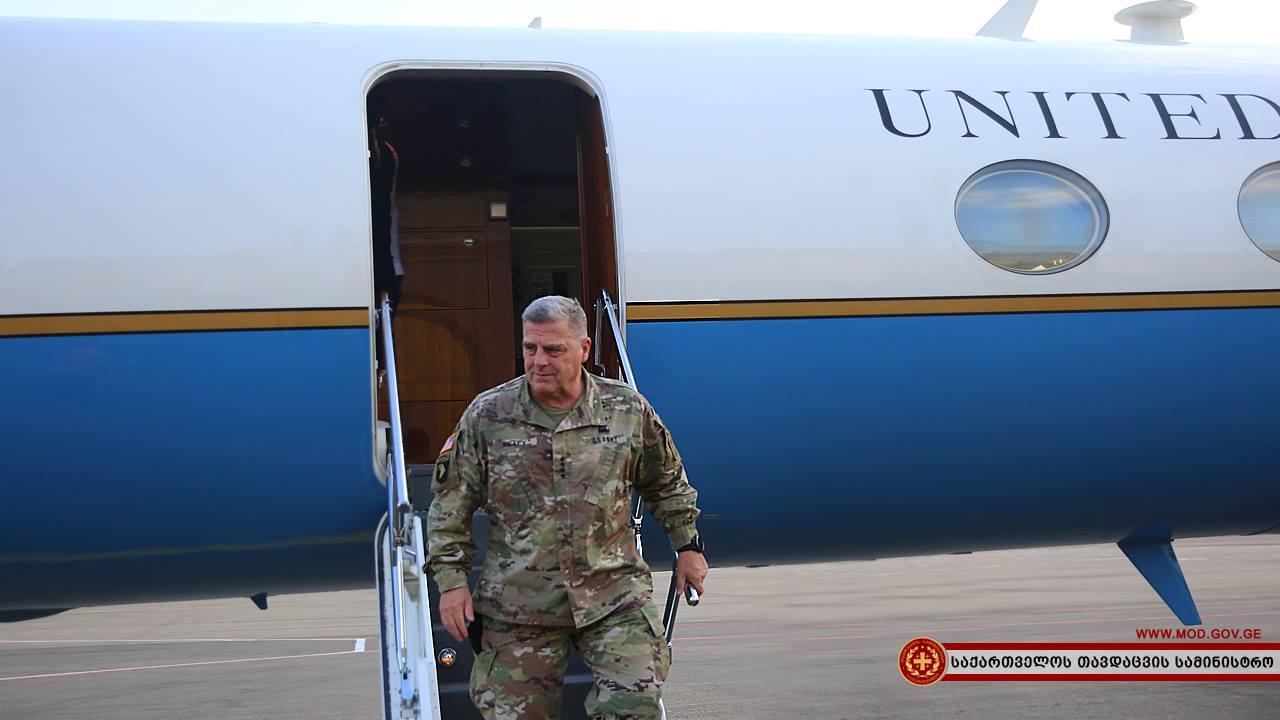 საქართველოს აშშ-ის არმიის შტაბის უფროსი ეწვია