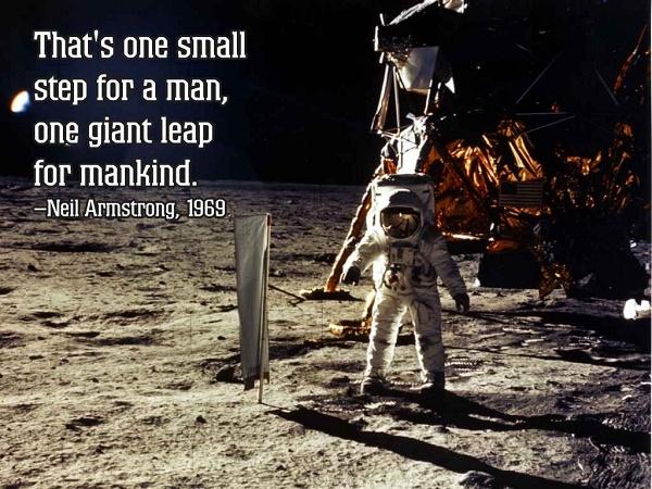 """""""პატარა ნაბიჯი ადამიანისთვის - გიგანტური ნახტომი კაცობრიობისთვის"""" - ნილ არმსტრონგი"""