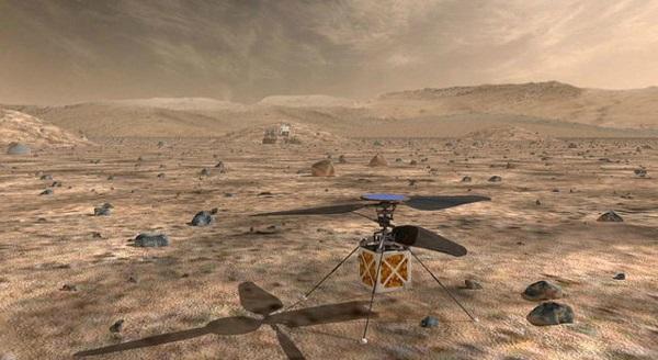 NASA მარსზე ვერტმფრენს გაგზავნის