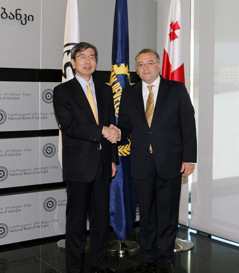 სებ-ს აზიის განვითარების ბანკის პრეზიდენტი ტაკეჰიკო ნაკაო ეწვია