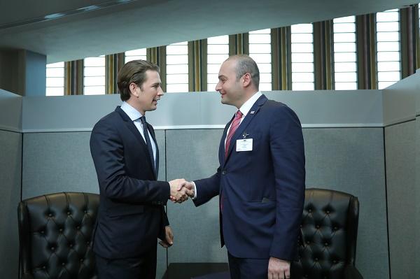 პრემიერ-მინისტრმა და ავსტრიის ფედერალურმა კანცლერმა საქართველოს ევროპულ ინტეგრაციასა და ორმხრივი ურთიერთობის პოზიტიურ დინამიკაზე ისაუბრეს