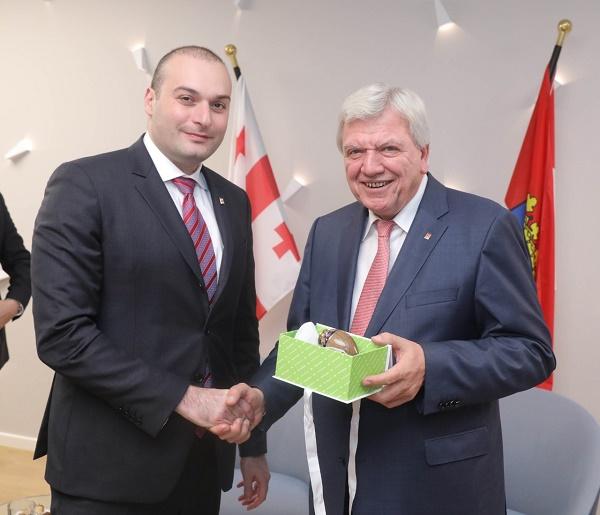 საქართველოს პრემიერ-მინისტრი ჰესენის ფედერალური მიწის პრემიერ-მინისტრს შეხვდა