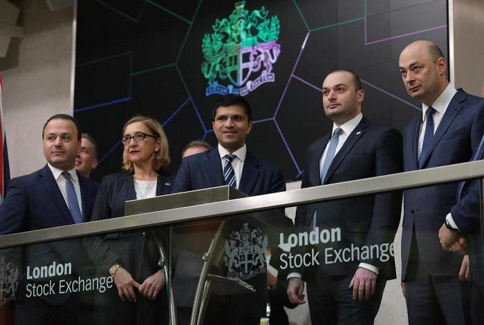 პრემიერ-მინისტრმა ლონდონის საფონდო ბირჟაზე სავაჭრო დღე გახსნა