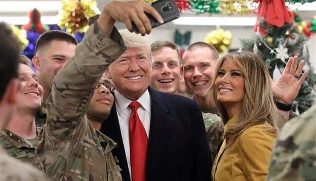 დონალდ და მელანია ტრამპები ერაყში ამერიკელ ჯარისკაცებს ეწვივნენ
