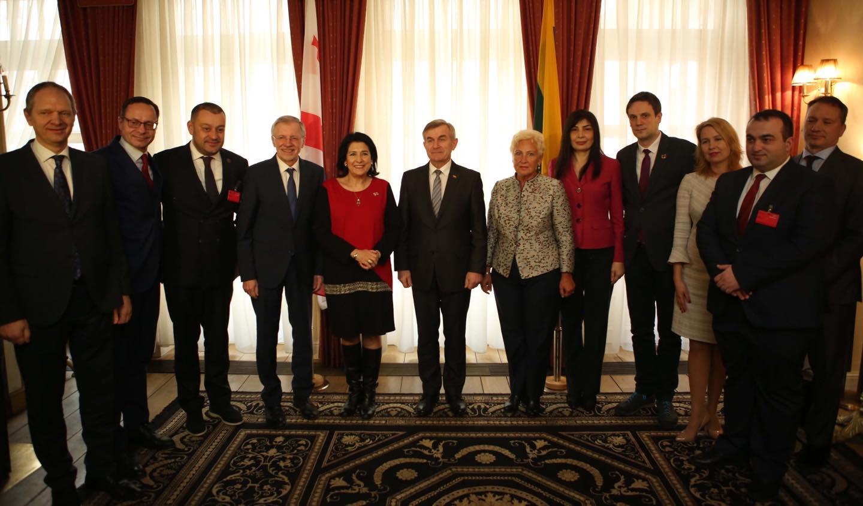 საქართველოს პრეზიდენტი ლიეტუვის რესპუბლიკის სეიმის თავმჯდომარეს შეხვდა
