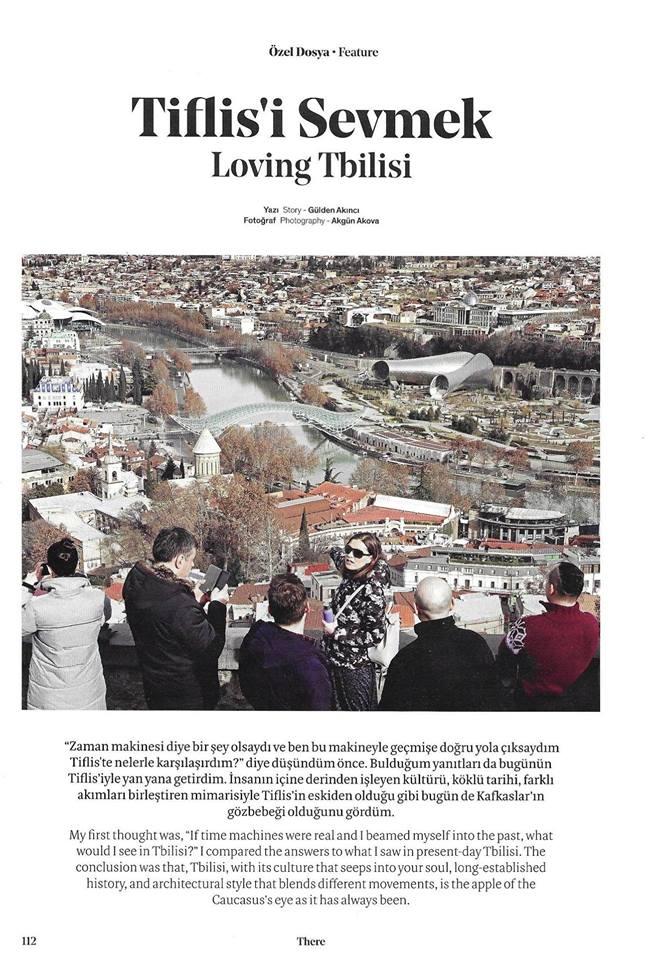თბილისი Turkish Airlines-ისსაბორტო ჟურნალში, რომელიც70 მლნ მგზავრზეა გათვლილი