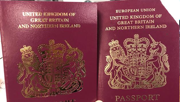 """ბრიტანულ პასპორტს წარწერა """"ევროპული გაერთიანება"""" მოეხსნა"""