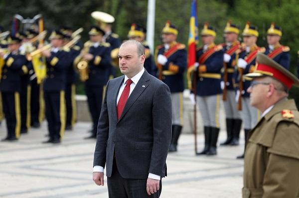 პრემიერ-მინისტრმა რუმინეთის დამოუკიდებლობისთვის დაღუპულ მებრძოლთა ხსოვნას პატივი მიაგო