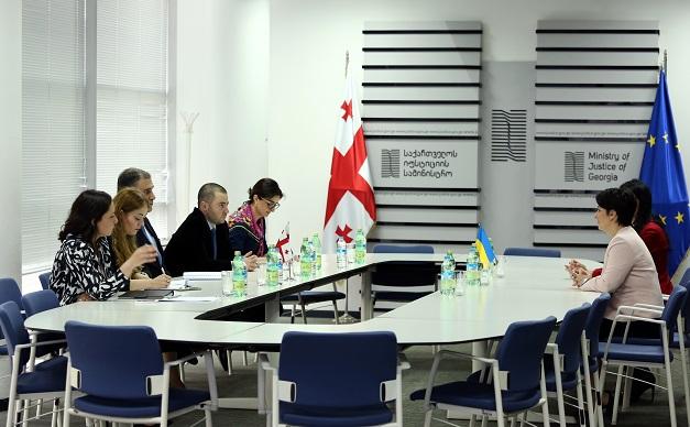 იუსტიციის მინისტრის პირველი მოადგილე უკრაინელ კოლეგას შეხვდა