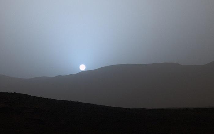 მარსზე მზის ამოსვლის და ჩასვლის კადრები მარსმავალმა InSight-მა გადაიღო