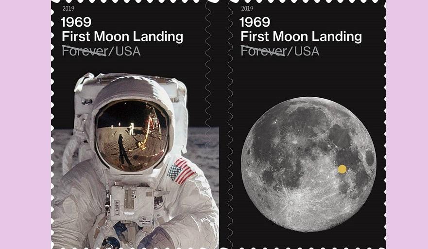 აშშ-ის საფოსტო სერვისმა მთვარეზე პირველი ადამიანის ჩასვლის 50 წლისთავს საფოსტო მარკა მიუძღვნა