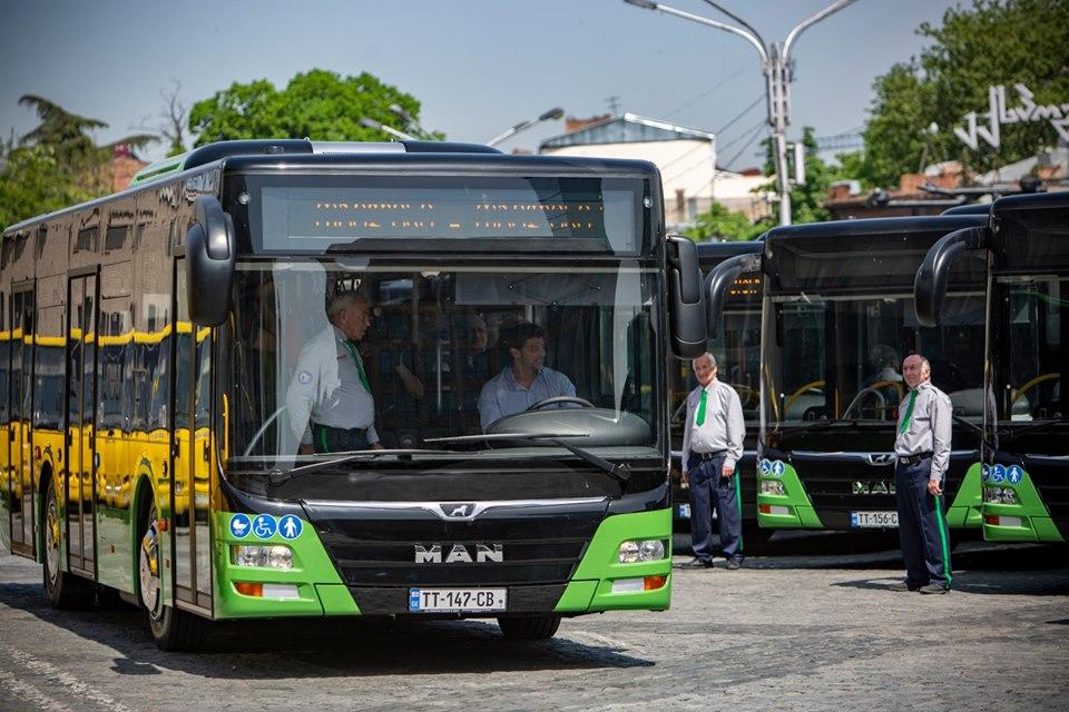 თბილისს 50 ერთეული MAN-ის მარკის ახალი ავტობუსი მოემსახურება