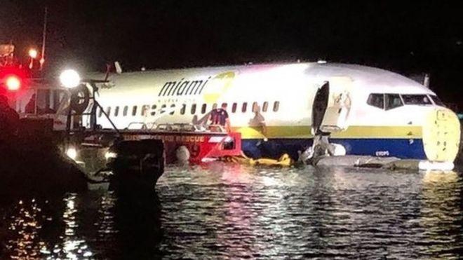 აშშ-ში სამგზავრო თვითმფრინავი მდინარეში ჩავარდა