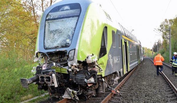 სარკინიგზო ავარიის შედეგად, გერმანიაში, 20 ადამიანი დაშავდა