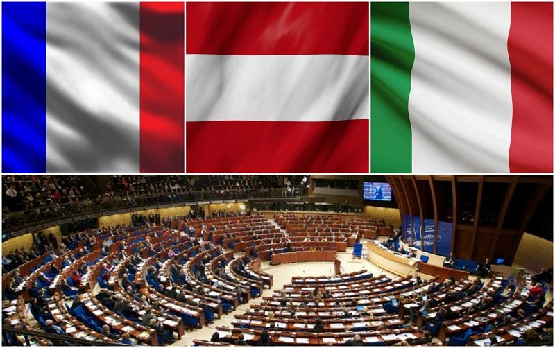 ავსტრია, საფრანგეთი, იტალია - ქვეყნები, რომლებმაც ევროსაბჭოს საპარლამენტო ასამბლეაში რუსეთის ხმის მიცემის უფლებას მხარი დაუჭირეს