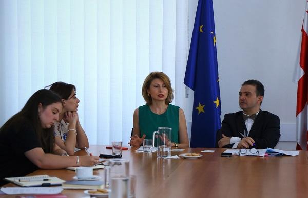თამარ ტალიაშვილი საქართველოში, ევროკავშირის წარმომადგენლობაში საერთაშორისო დონორ ორგანიზაციებს შეხვდა