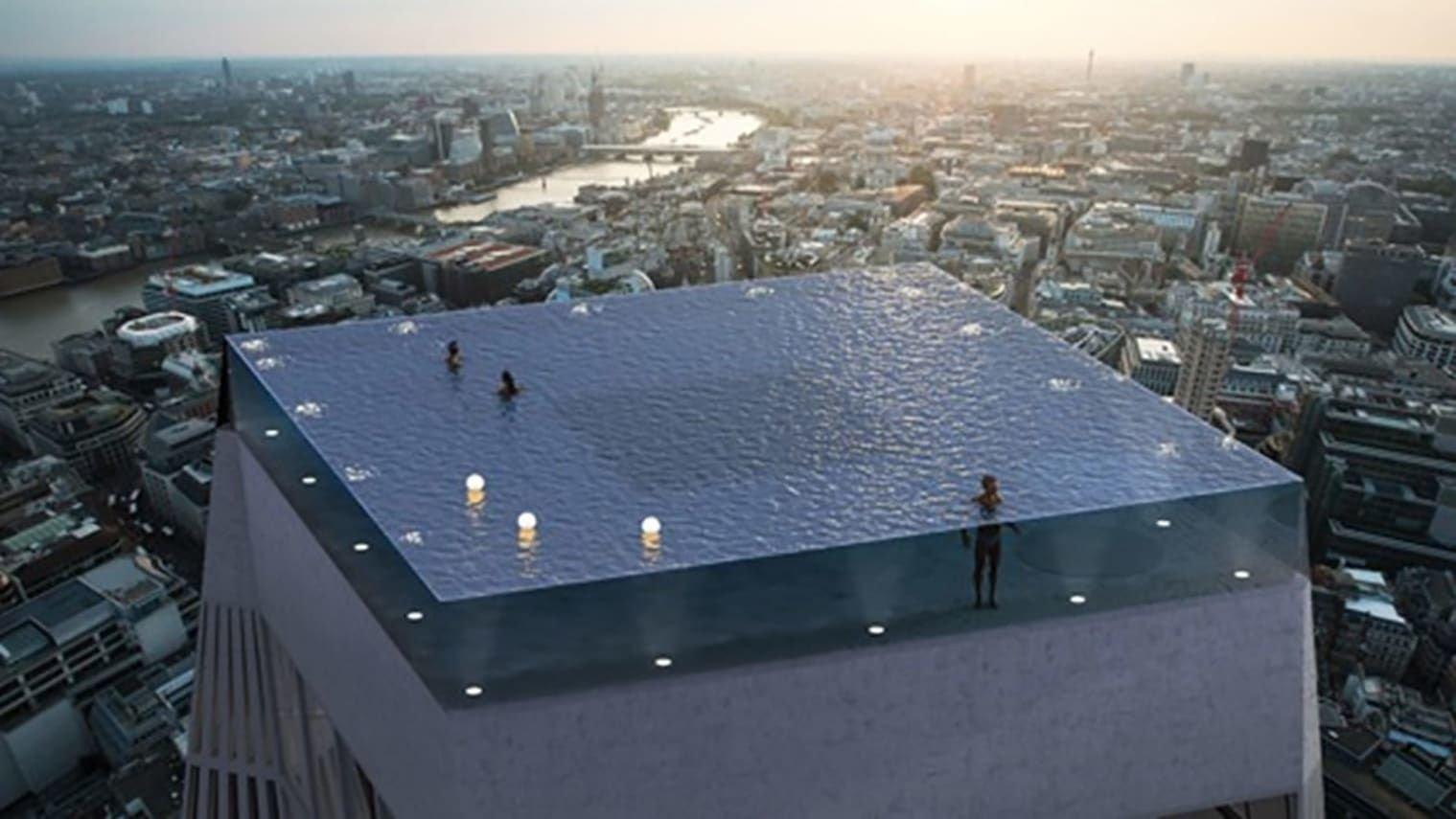 ლონდონში აშენდება პირველი აუზი, რომელსაც 360 გრადუსის მქონე ხედი ექნება|ფოტო
