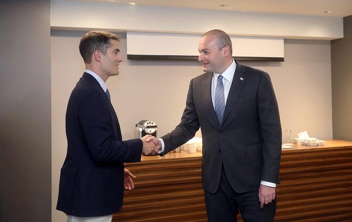 პრემიერ-მინისტრი მონრეალში ამერიკის საერთაშორისო ეკონომიკური ფორუმის პრეზიდენტს შეხვდა