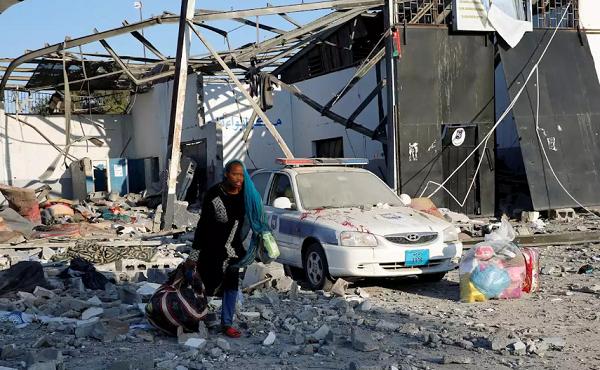 ლიბიაში მიგრანტების ბანაკის დაბომბვის შედეგად 40 ადამიანი დაიღუპა