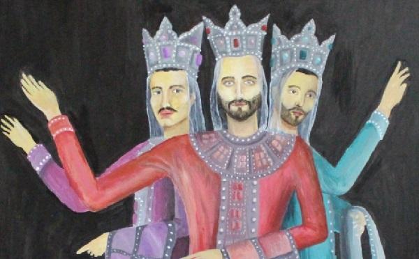 კაცები ცეკვავენ სამაიას  -  ლია უკლებას ახალი ნახატი