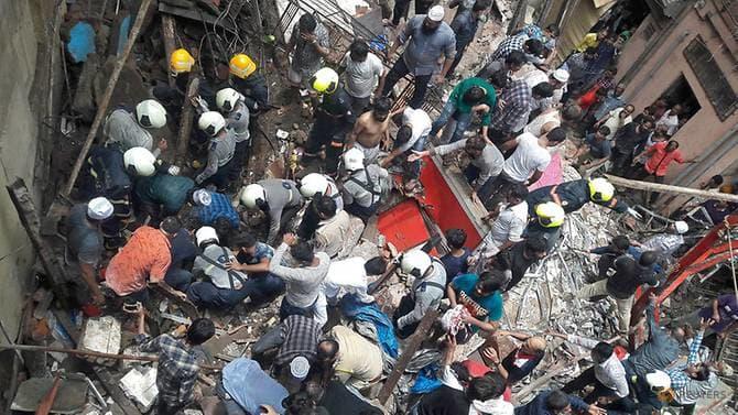 მუმბაიში 40-ზე მეტი ადამიანი 100 წლის სახლის ნანგრევებშია მოყოლილი