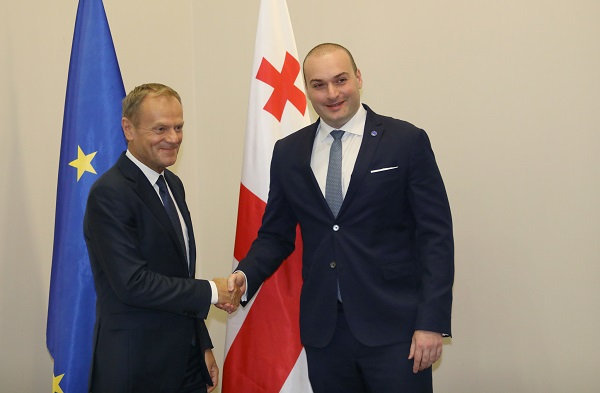 პრემიერ-მინისტრმა და ევროკავშირის საბჭოს პრეზიდენტმა საქართველოს ევროპული ინტეგრაციის ახალ შესაძლებლობებზე იმსჯელეს