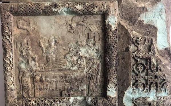 აწყურის საკათედრო ტაძარში შუასაუკუნეების ხანის ღვთისმშობლის მიძინების სცენის ამსახველი ფრაგმენტი გამოვლინდა