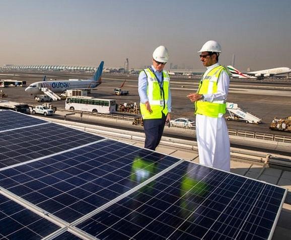 დუბაის აეროპორტი მზის ენერგიაზე გადადის