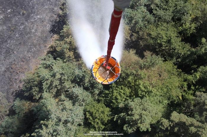 სოფელ საყავრეს მიმდებარედ, ტყის მასივში ცეცხლი აღარ შეინიშნება