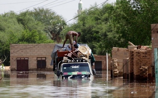 სულ მცირე 60 ადამიანი ემსხვერპლა წყალდიდობას სუდანში