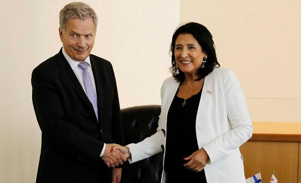 სალომე ზურაბიშვილი ფინეთის რესპუბლიკის პრეზიდენტს შეხვდა