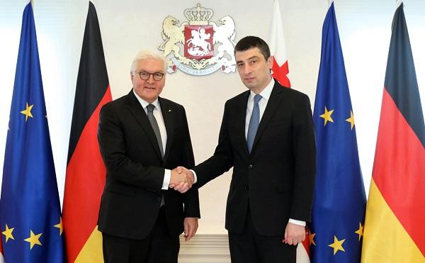 პრეზიდენტ შტაინმაიერის ვიზიტი ადასტურებს, რომ გერმანია საქართველოს საიმედო პარტნიორად მიიჩნევს - გიორგი გახარია