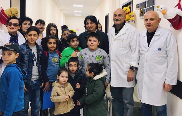 რიმა ბერაძის ინიციატივით, მრავალშვილიანი ოჯახების ბავშვებს სამედიცინო გამოკვლევები ჩაუტარდათ