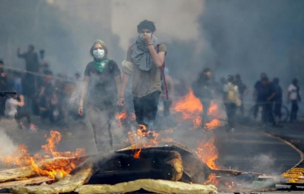 ჩილეში საპროტესტო აქციების დროს 15 ადამიანი დაიღუპა