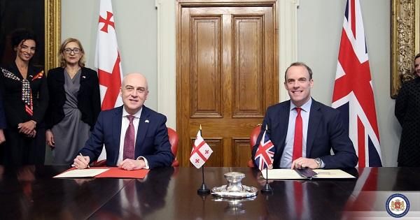 საქართველოსა და გაერთიანებულ სამეფოს შორის სტრატეგიული პარტნიორობის შეთანხმება გაფორმდა