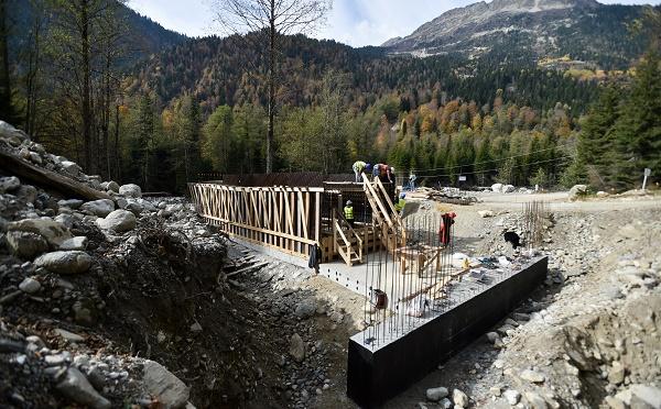 ჭუბერში ერთდროულად ოთხი ხიდის მშენებლობა მიმდინარეობს
