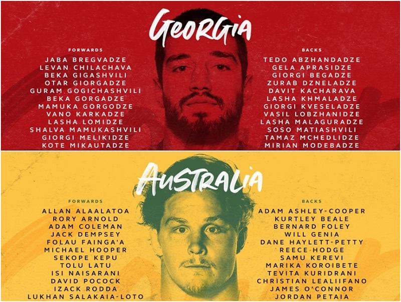 ხვალ ბორჯღალოსნები, რაგბის მსოფლიო ჩემპიოანტის ფავორიტს, ავსტრალიის ნაკრებს შეერკინებიან