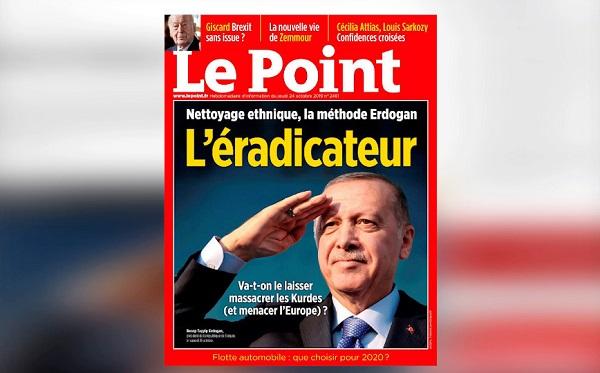 ერდოღანი ფრანგული გამოცემა Le Point-ის წინააღმდეგ