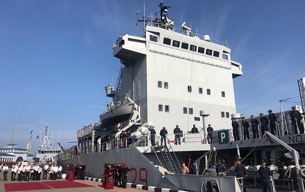 ბათუმის ნავსადგურში NATO-ს გემების ოფიციალური დახვედრა გაიმართა