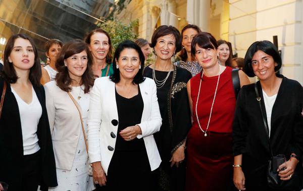 საქართველოს პრეზიდენტმა ლიდერ ქალებს უმასპინძლა