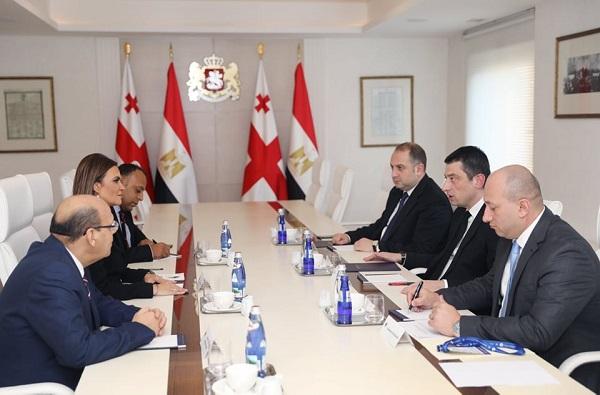 გიორგი გახარია ეგვიპტის არაბთა რესპუბლიკის ინვესტიციებისა და საერთაშორისო თანამშრომლობის მინისტრს შეხვდა