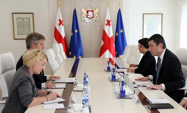 პრემიერ-მინისტრმა და საქართველოში EUMM-ის  ხელმძღვანელმა ოკუპირებულ ტერიტორიებზე არსებული ვითარება განიხილეს