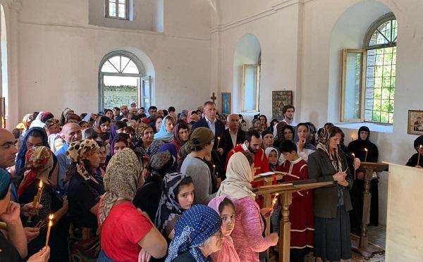 120 წლის შემდეგ კახში, სოფ. ქოთოქლოს  სამების ეკლესიაში წირვა-ლოცვა ჩატარდა