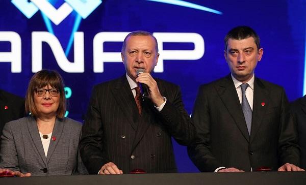 გიორგი გახარიამ, რეჯეფ თაიფ ერდოღანმა და ილჰამ ალიევმა თურქეთში TANAP-ის პროექტი გახსნეს