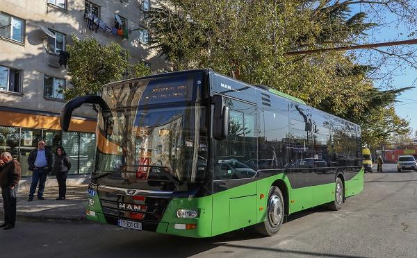 """ლილოს დასახლებაში, №1 ავტობუსის ხაზზე """"MAN""""-ის მარკის  10 ახალი ავტობუსი იმოძრავებს"""