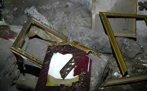 სოფელ ხულგუმოსთან მდებარე სამლოცველოში ხატები დააზიანეს