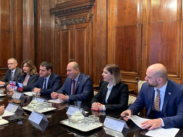 საქართველოსა და ჩეხეთის მთავრობის წევრებმა ეკონომიკური ურთიერთობის გაღრმავების საკითხებზე იმსჯელეს