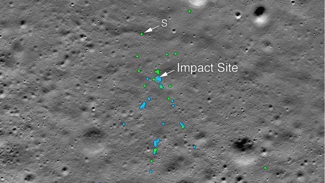 მთვარეზე ჩამოვარდნილი ინდური ხომალდის ნარჩენებს 4-თვიანი ძიების შემდეგ მიაკვლიეს